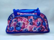 Купить оптом у производителя сумка для фитнеса 70Д голубые розы