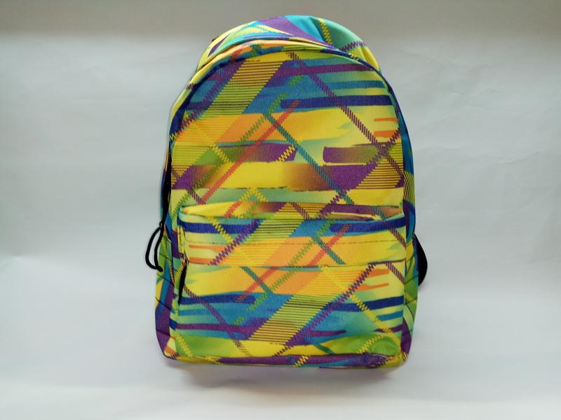 Купить оптом у производителя рюкзак 80Д голубой штрих